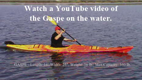 Click here to watch a youtube video of the Gaspe on the water.